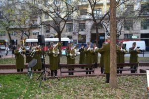 Katonai tiszteletadás a Herzl Tivadar téren 2018