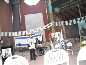Herzl ünnepség a Rumbach zsinagógában